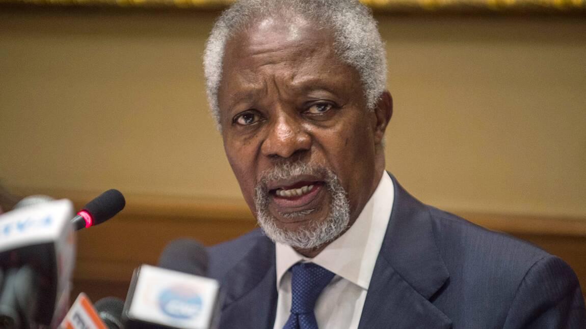 Kofi Annan: lutter contre le changement climatique, même sans les Etats-Unis