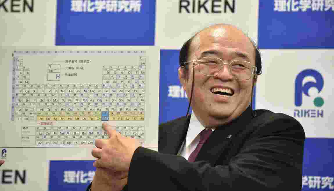 Les noms des quatre nouveaux éléments chimiques approuvés