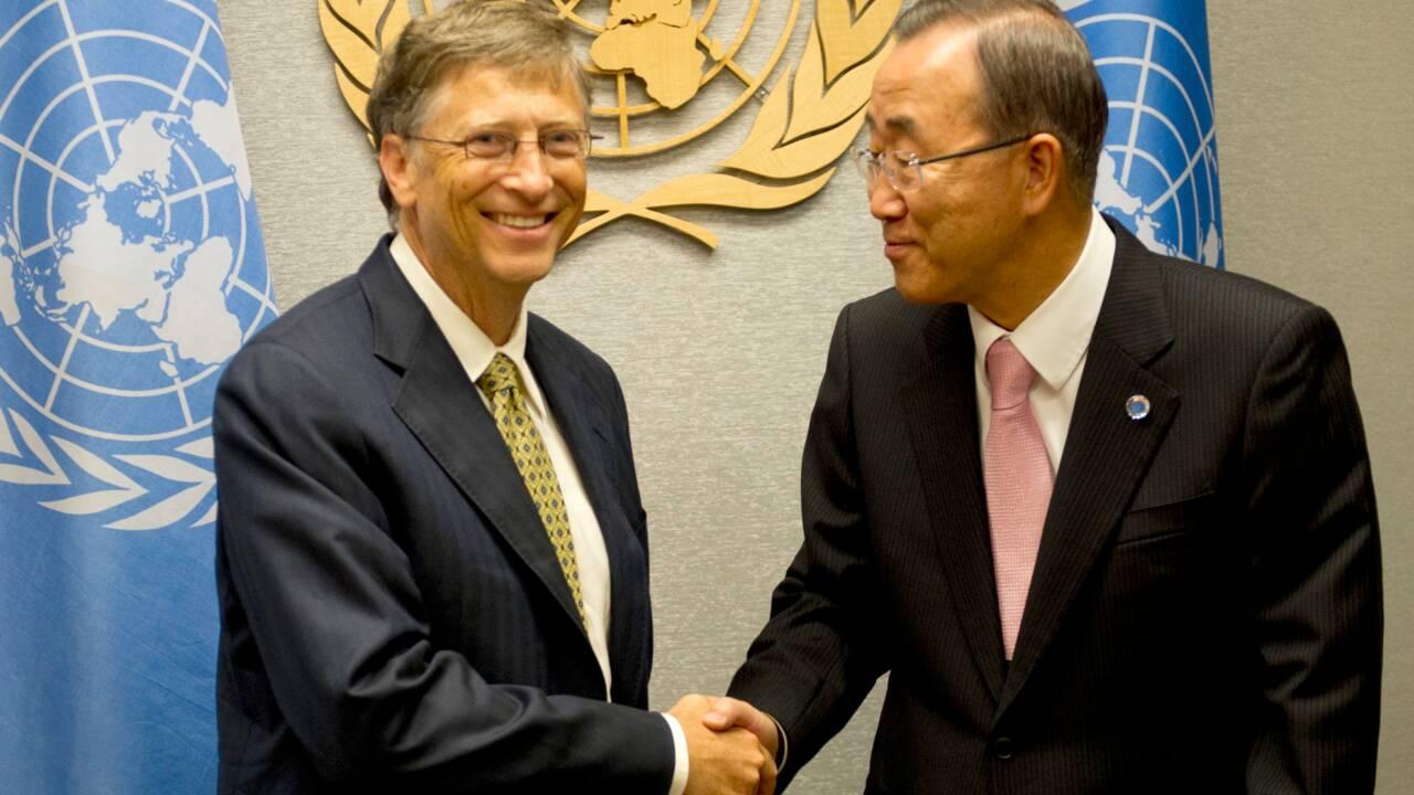 Climat: Ban Ki-moon et Bill Gates à la tête d'une commission internationale