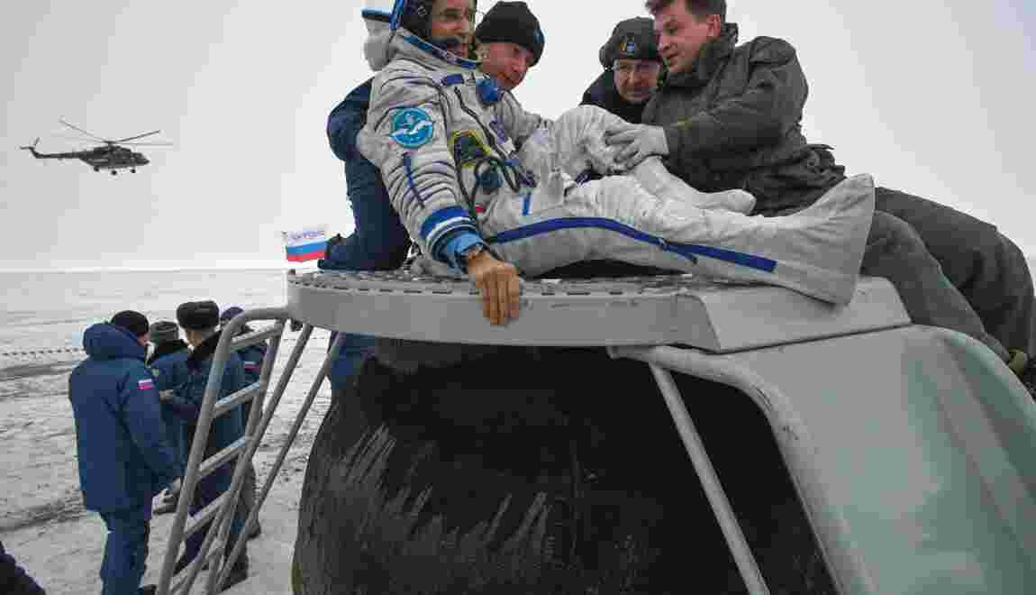 Retour sur Terre réussi pour deux astronautes et un cosmonaute de l'ISS