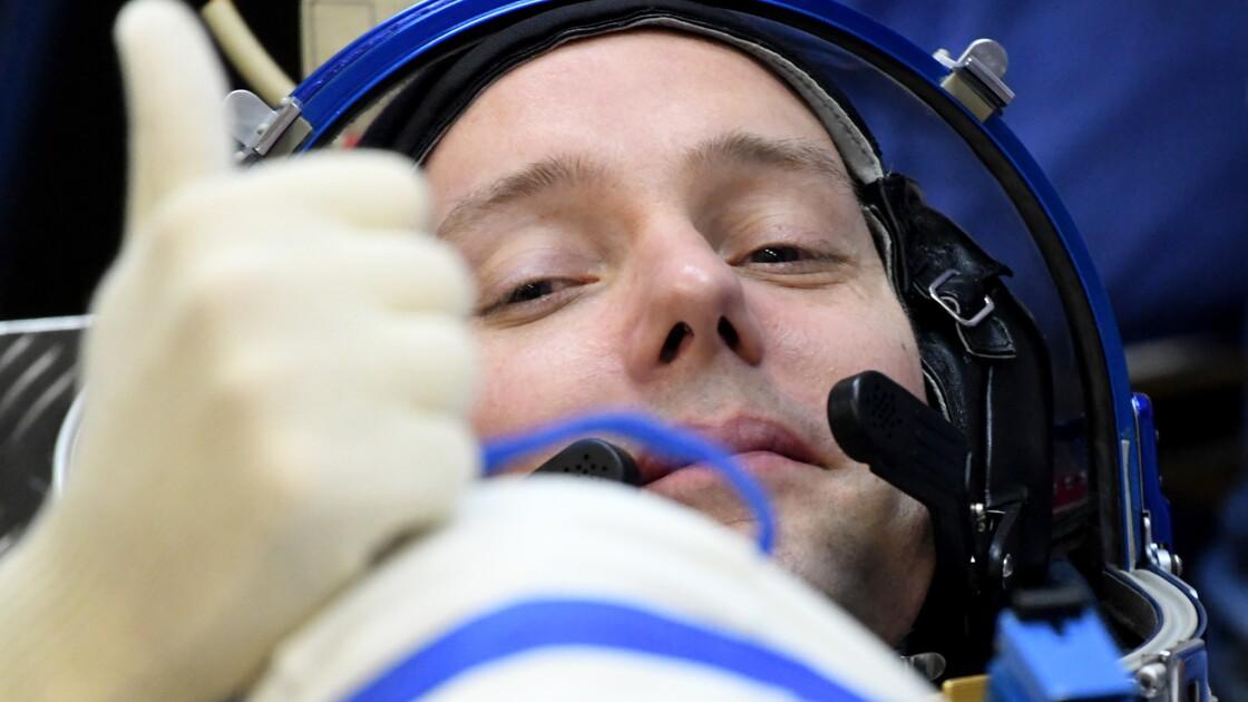Sortie dans l'espace des astronautes français et américain
