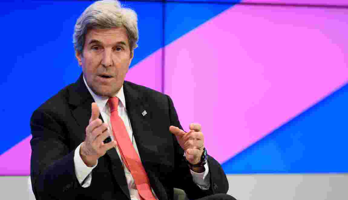 Retrait de l'accord climat: Kerry ironise sur Trump