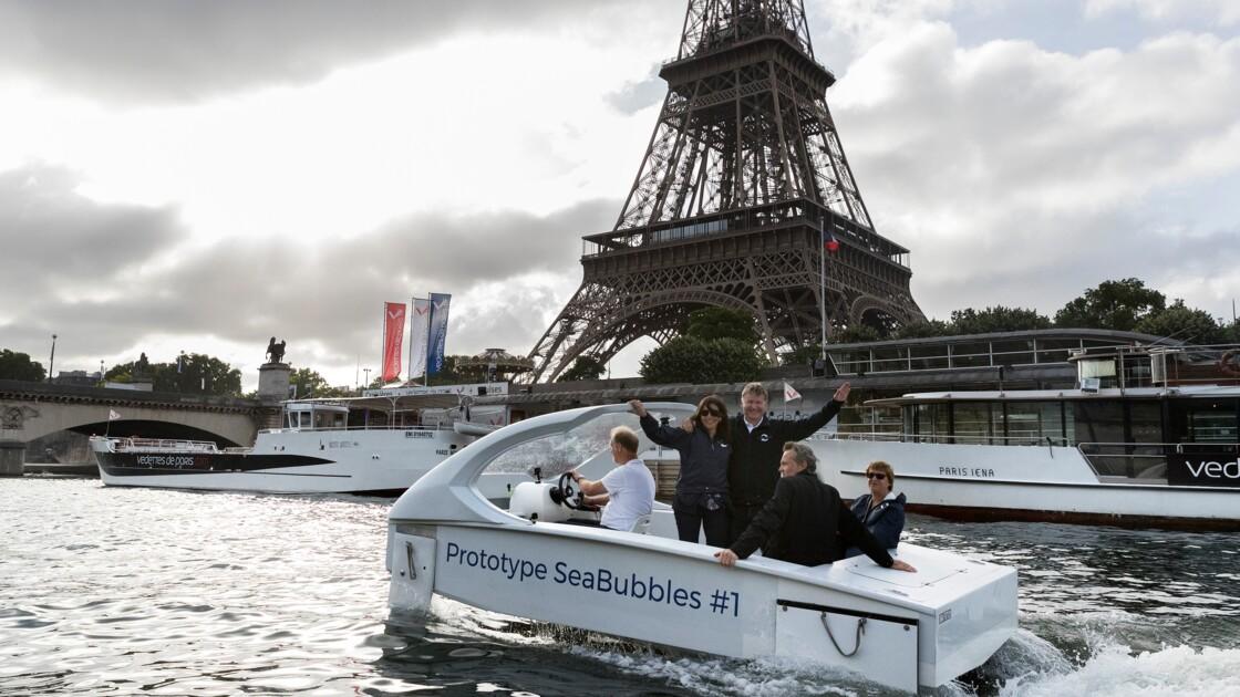"""Sea Bubbles: les tests des """"taxis volants"""" sur la Seine repoussés de six mois"""