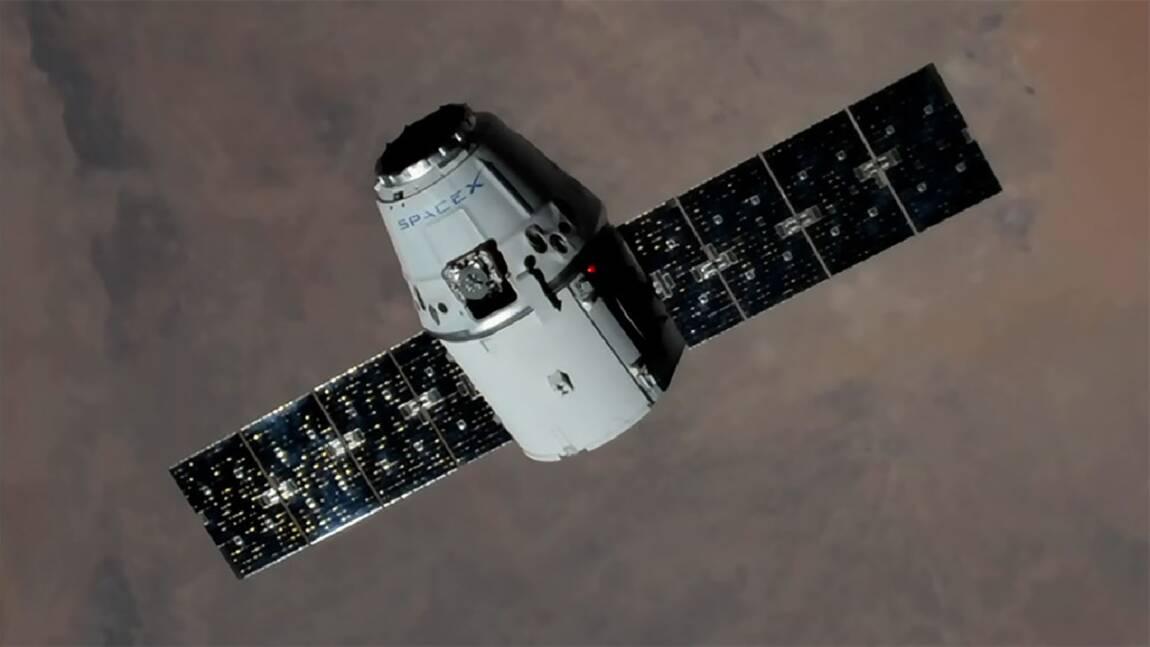 La capsule de ravitaillement Dragon arrivée à l'ISS
