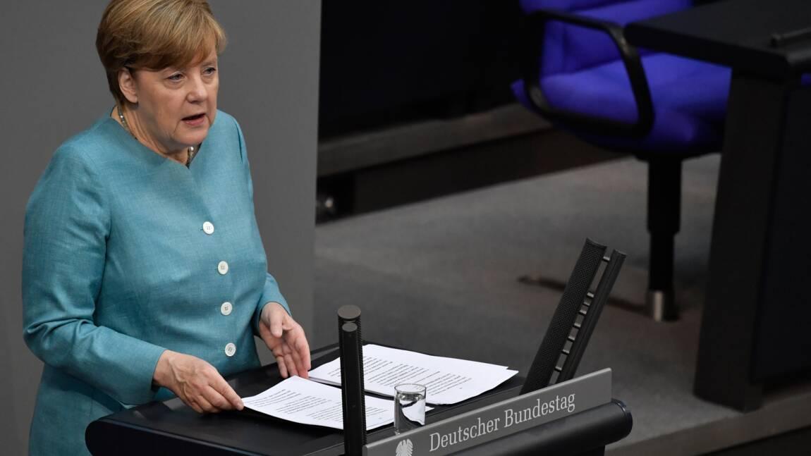 """Merkel: l'Europe plus """"déterminée que jamais"""" à combattre le changement climatique"""