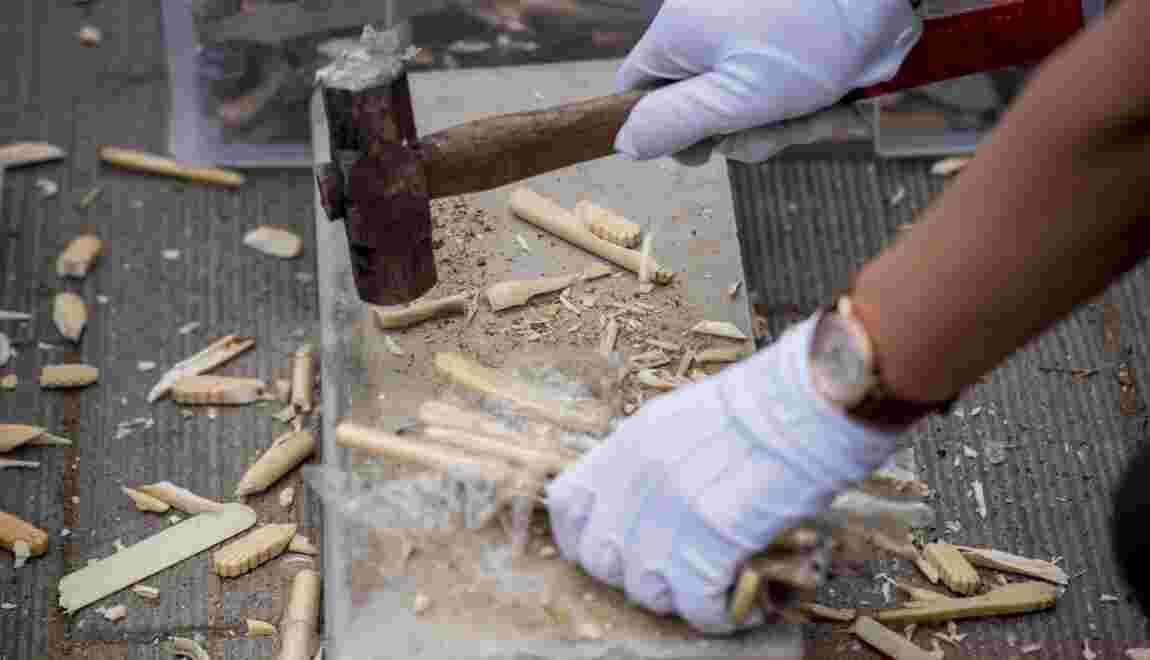"""Chine : """"C'est bientôt la fin. Pourtant, l'ivoire c'est notre culture"""""""
