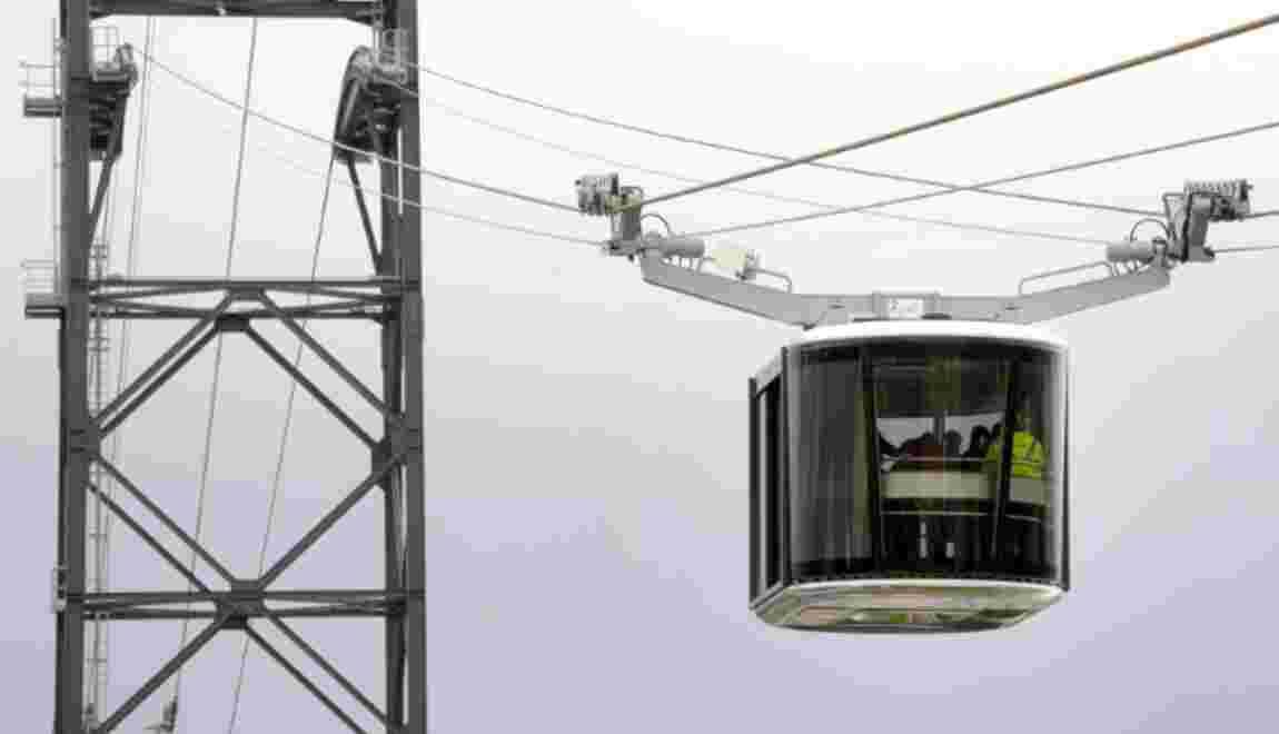 Le premier téléphérique urbain de France entre en service à Brest