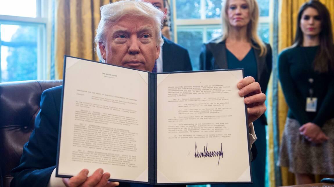 Trump s'attaque à l'immigration et à un mur avec le Mexique