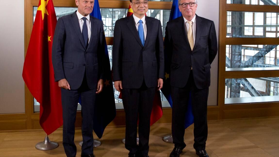 """Sommet UE-Chine: pas de """"retour en arrière"""" sur l'accord de Paris"""
