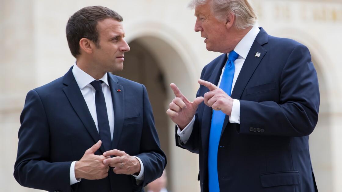 """Accord de Paris: Trump """"va essayer de trouver une solution dans les prochains mois"""", assure Macron"""