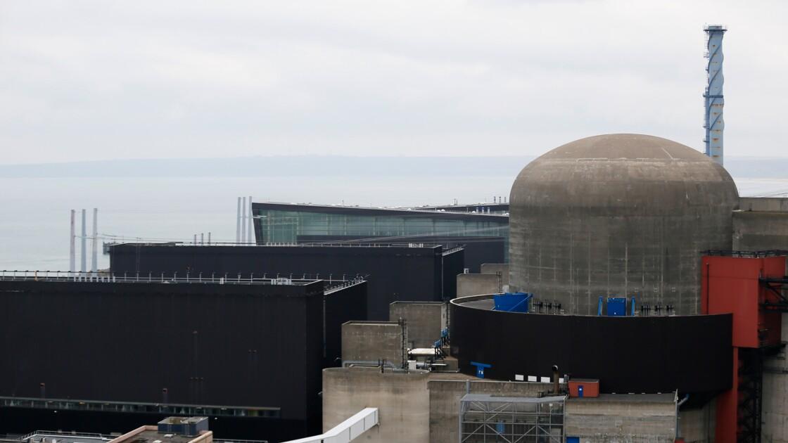 La centrale nucléaire de Flamanville à l'arrêt