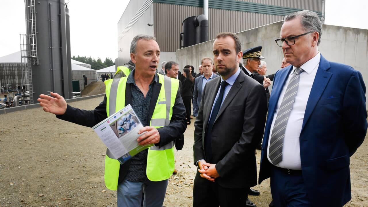 Lecornu inaugure une centrale biométhane à Châteaulin