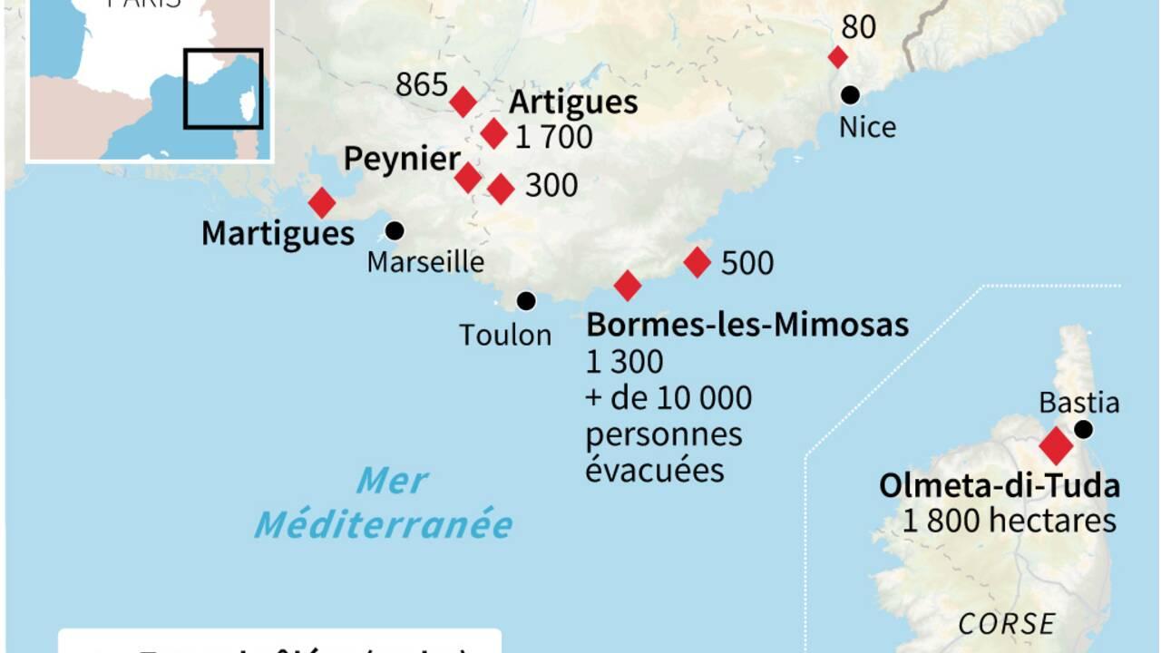 """Amélioration sur le front des feux dans le Sud, celui de Bormes est """"fixé"""""""