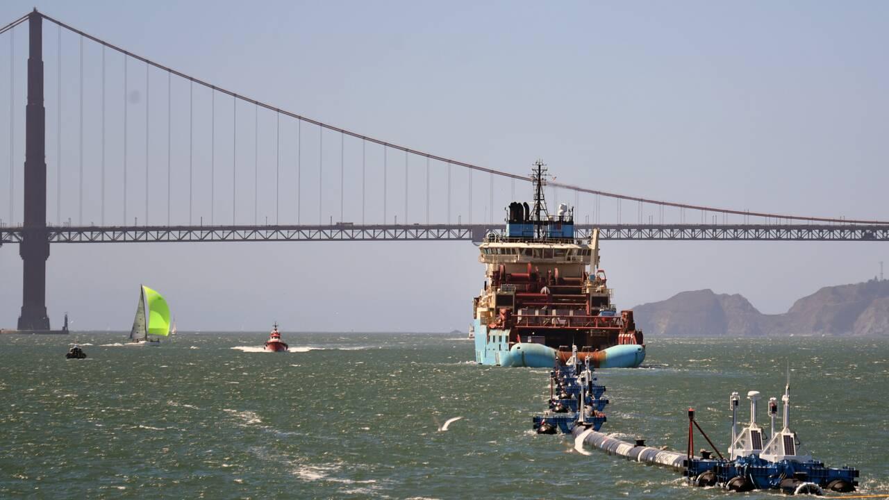 Ocean Cleanup quitte San Francisco pour nettoyer le Pacifique de ses plastiques