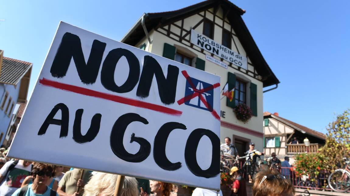 Manifestation contre un projet de rocade près de Strasbourg