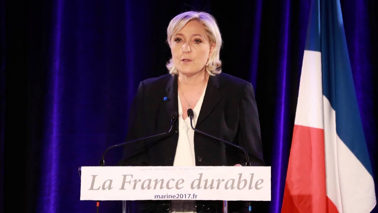 """Marine Le Pen juge """"utiles"""" les """"débats"""" sur le changement climatique"""