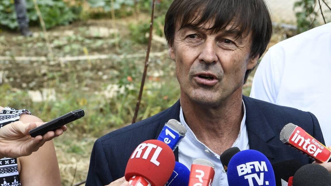 """Hulot défend un objectif """"neutralité carbone"""" en 2050 pour la France"""