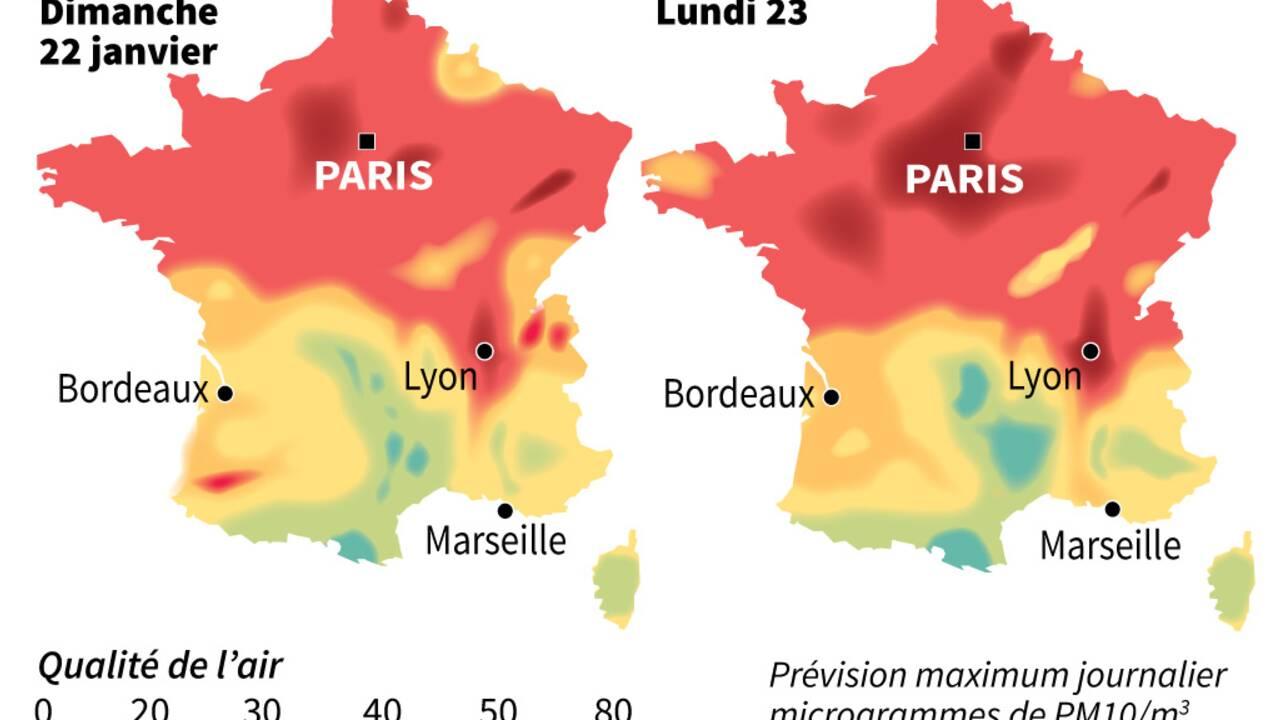 Le pic de pollution s'étend dans l'Est et l'Ouest