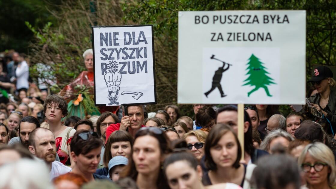 Les défenseurs de la forêt de Bialowieza manifestent à Varsovie