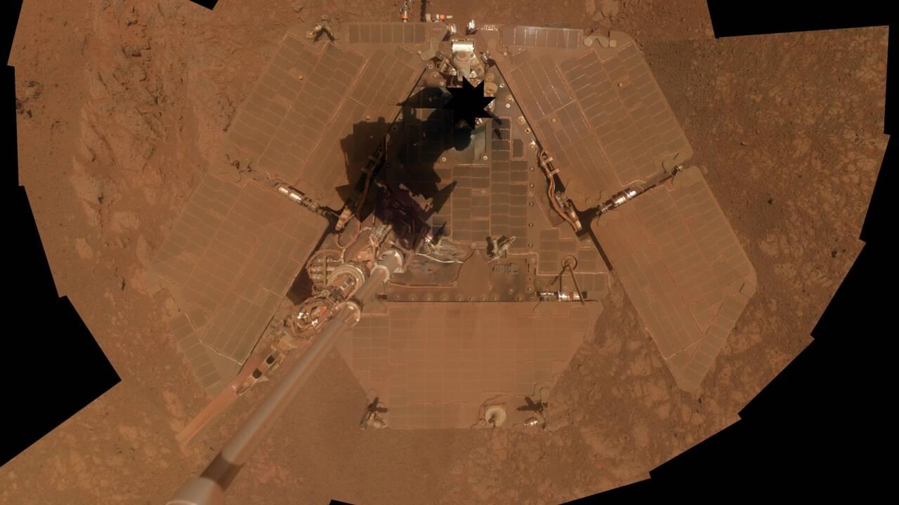 Mars enveloppée par une tempête de sable, le robot de la Nasa ne répond plus