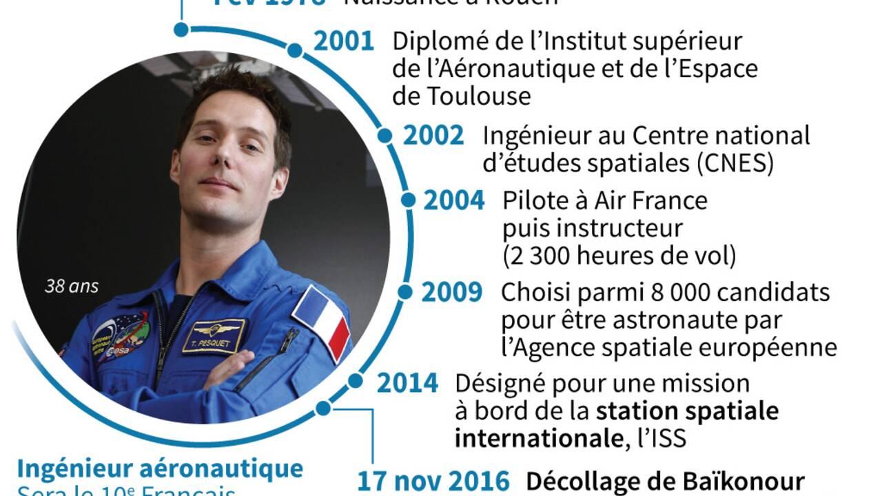 """Première sortie dans l'espace """"très réussie"""" pour Thomas Pesquet"""