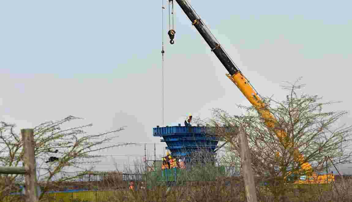 Colère après le début de la construction d'un chemin de fer dans le parc de Nairobi