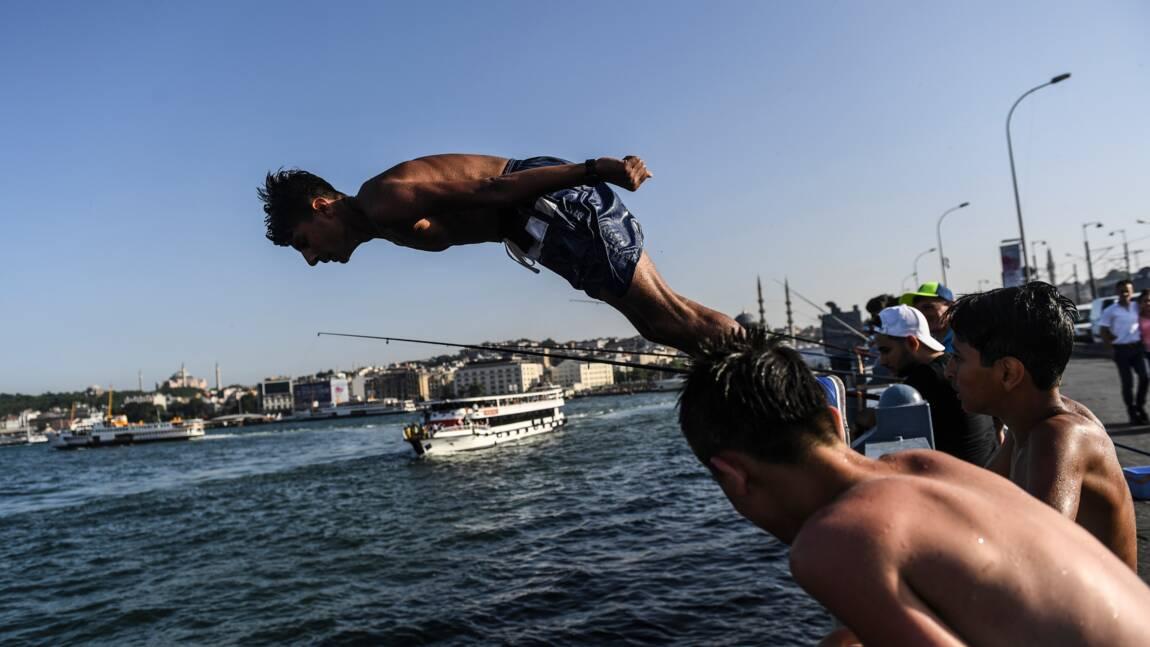Grèce et Turquie sous la canicule