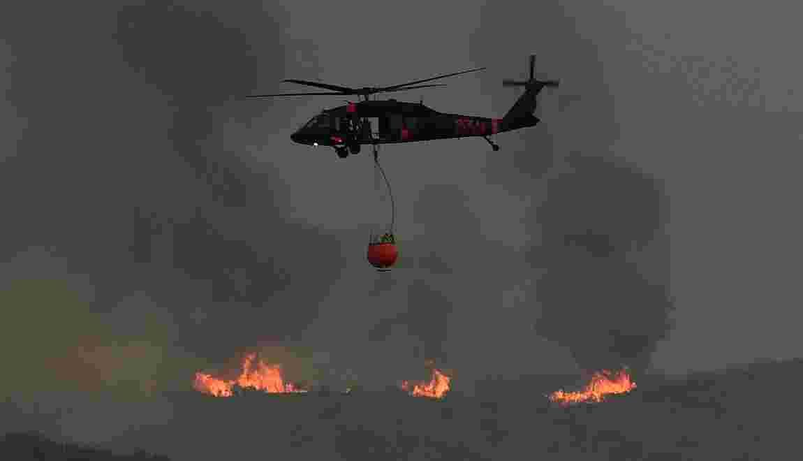 Un incendie encore très actif en Californie, Santa Barbara menacée