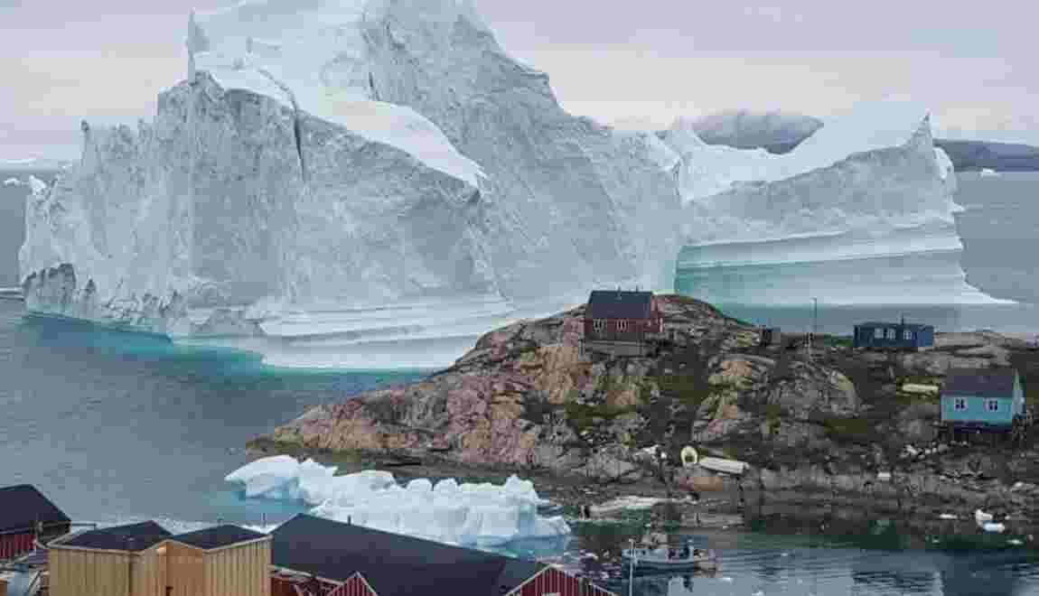 Un iceberg de 100 mètres de haut menace les côtes groenlandaises