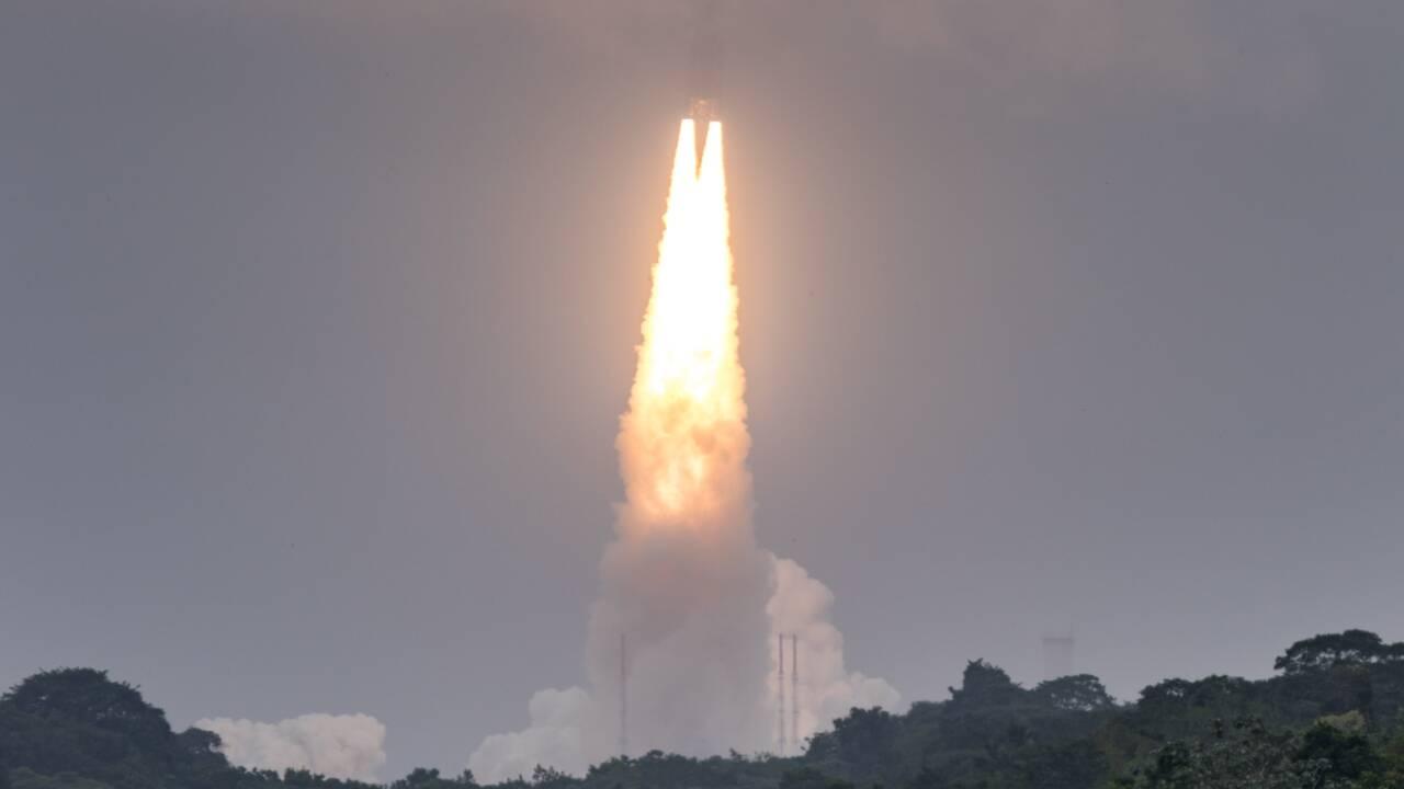 Ariane 5: le spatial européen termine 2017 par un succès avec son programme emblématique