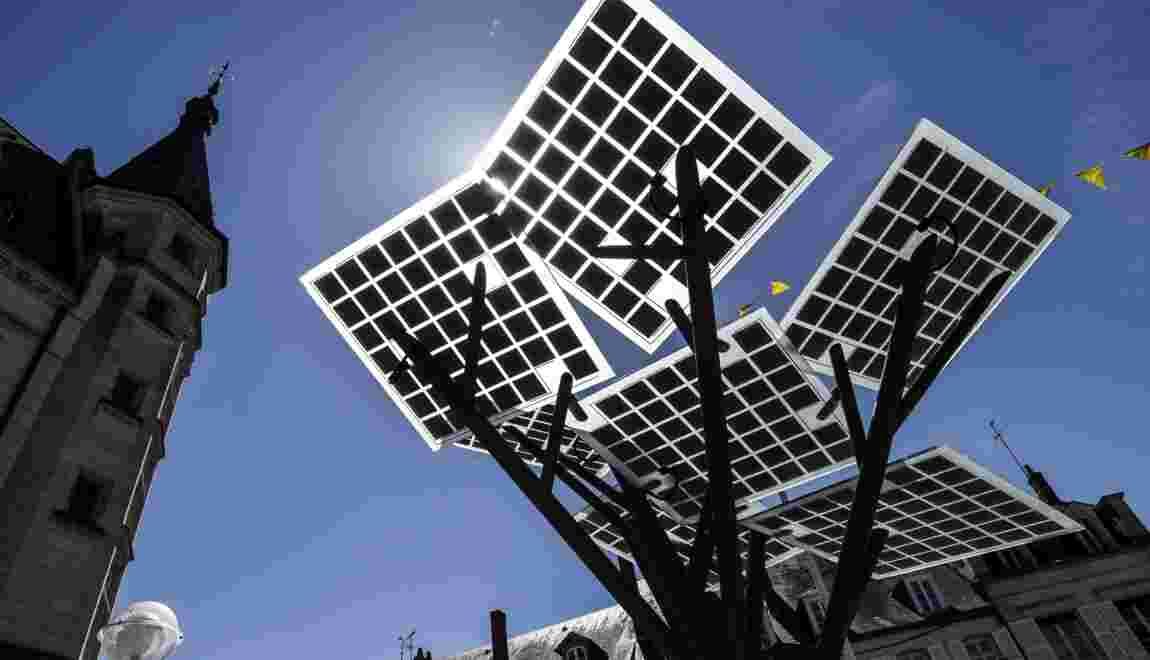 """A Nevers, le premier """"arbre"""" d'Europe aux feuilles photovoltaïques"""