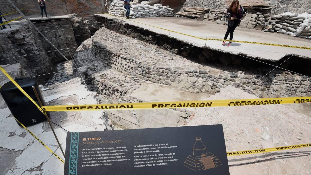 Un ancien temple et un terrain de jeu aztèques découverts à Mexico