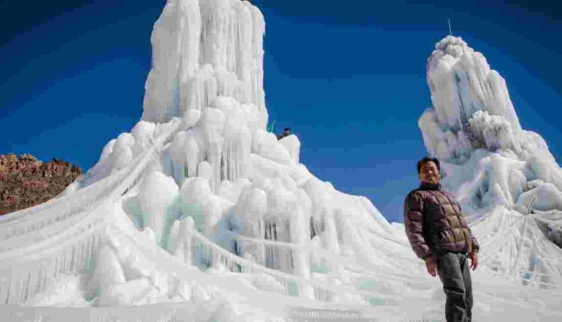 Les stupas de glace : une idée de génie pour reboiser la montagne