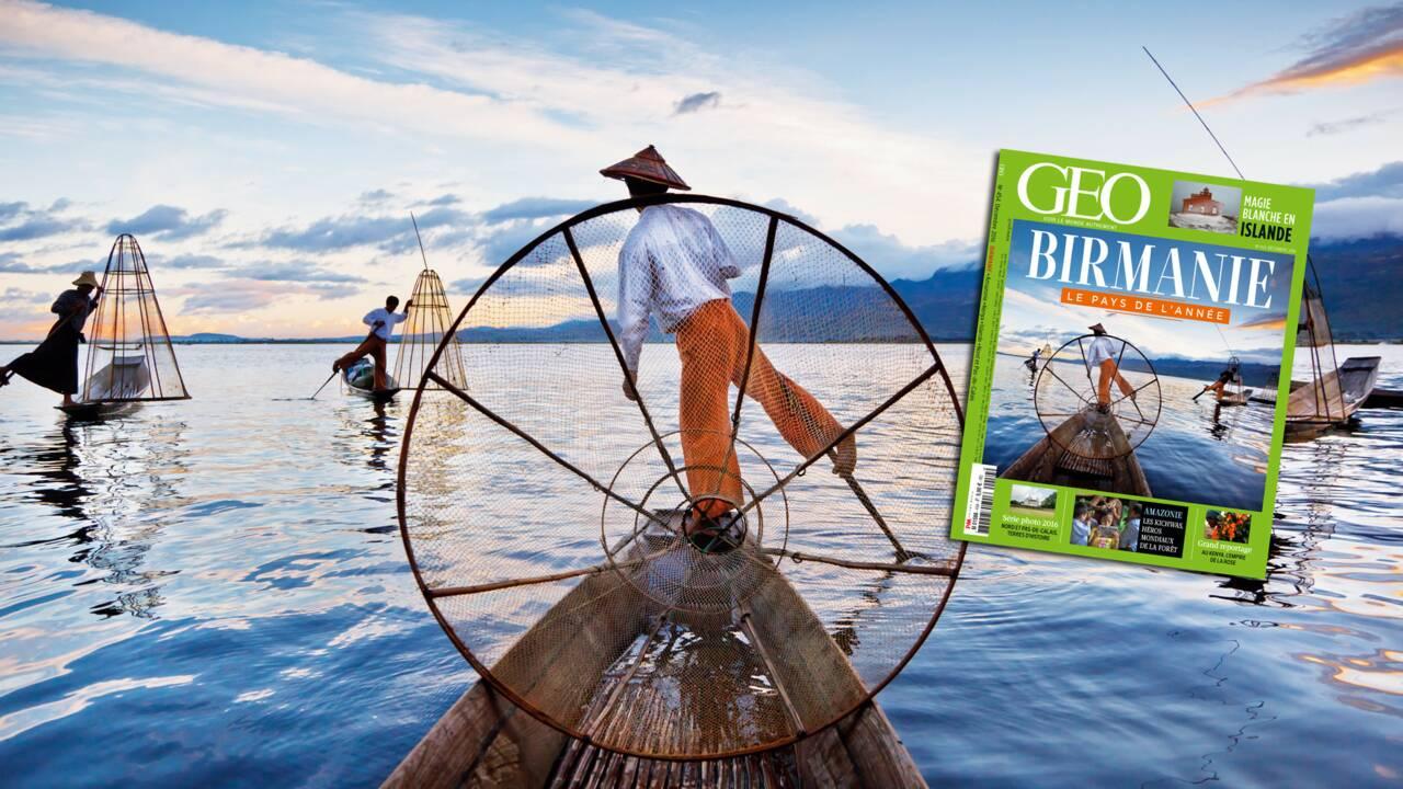 """La Birmanie, """"pays de l'année"""", dans le nouveau magazine GEO"""