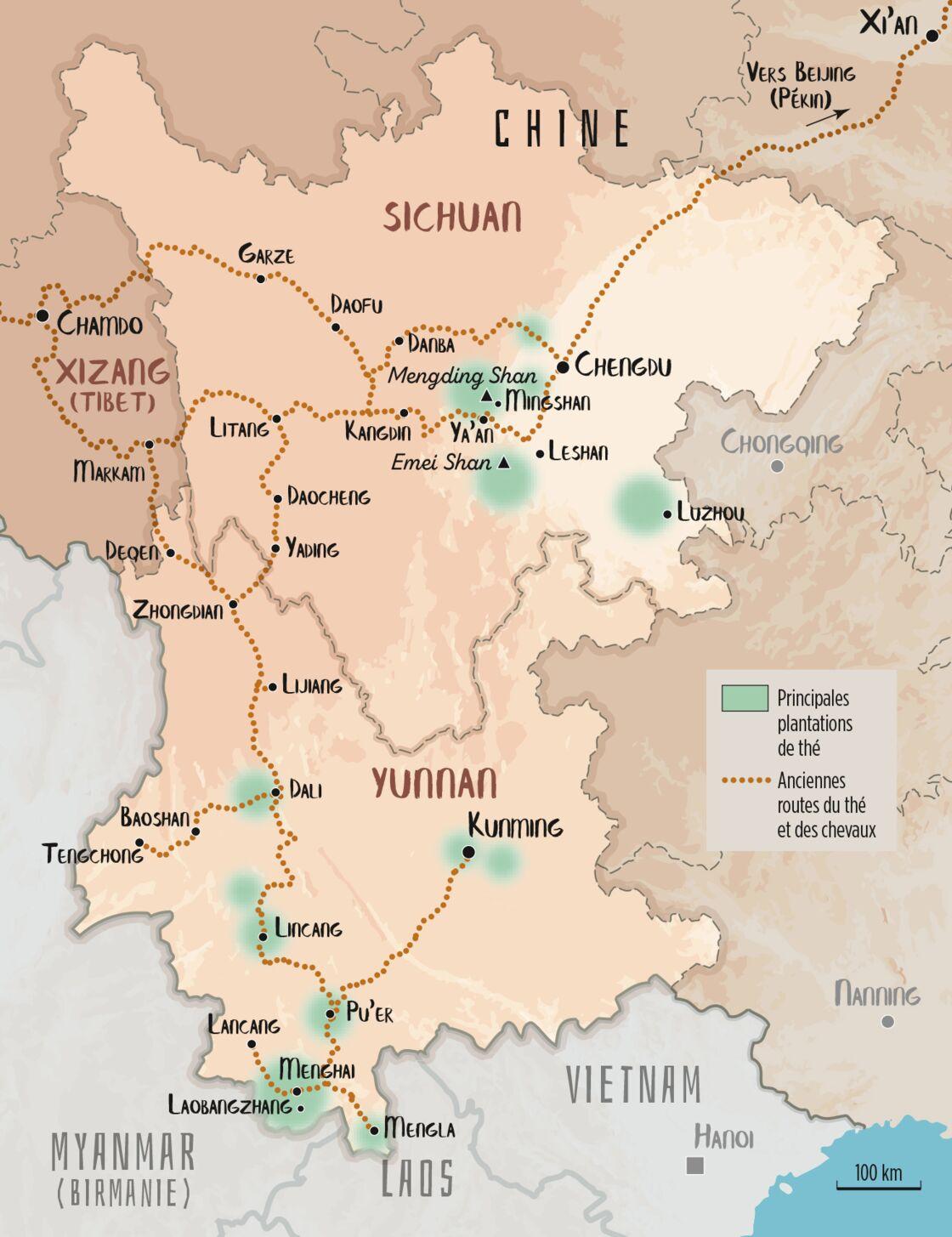 Carte Du Monde Yunnan.Chine Les Secrets Du Pu Er The Noir Le Plus Celebre Du