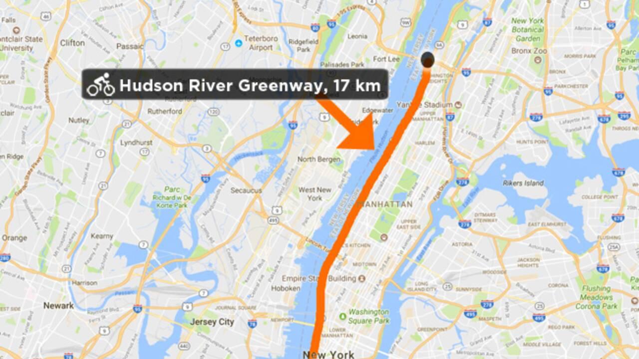 VIDÉO - New York à vélo le long de la Hudson River