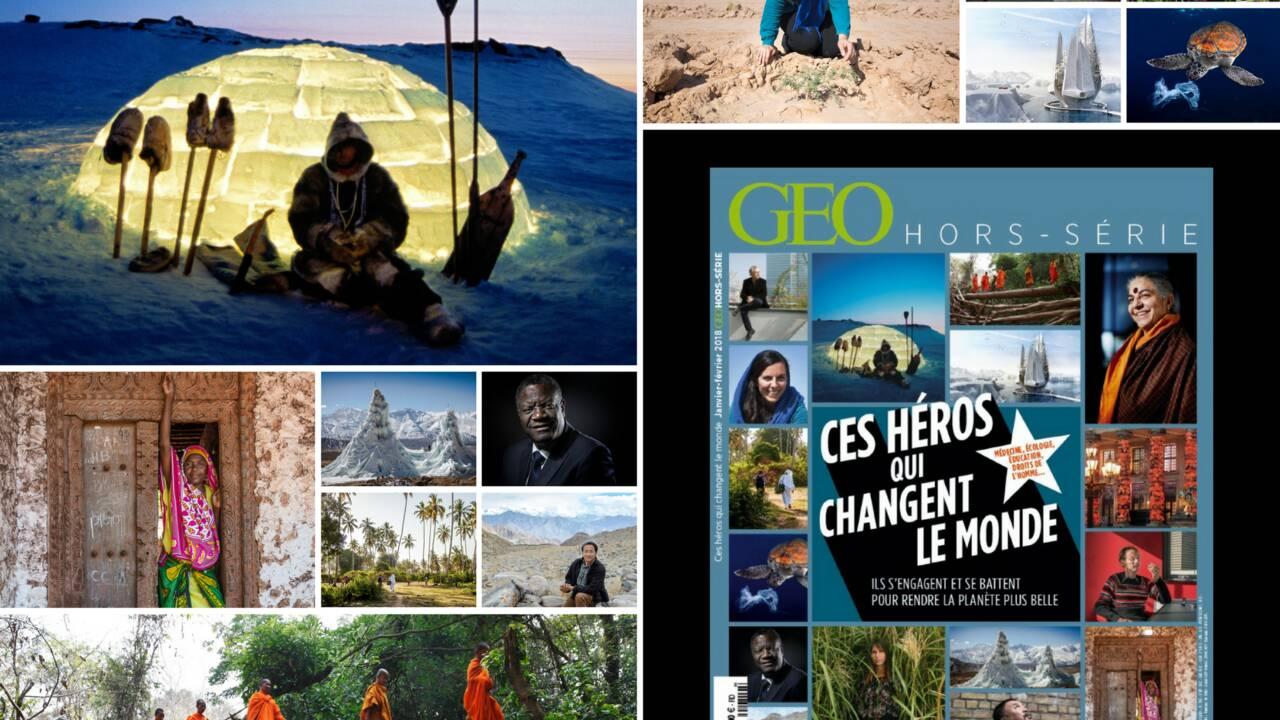 Ces héros qui changent le monde, dans le nouveau numéro de GEO Hors-série