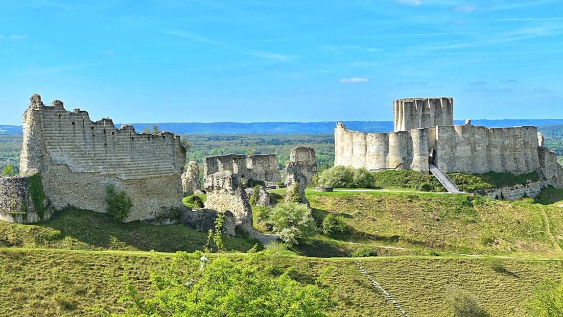 Les Andelys : le château de richard Cœur de Lion