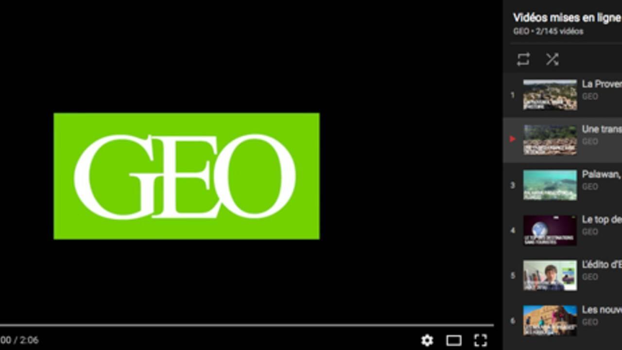 GEO lance sa chaîne officielle sur YouTube