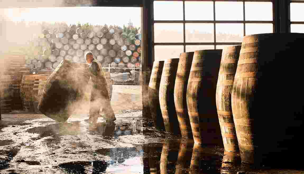 Ecosse dans les fabriques de whisky sur l'île d'Islay