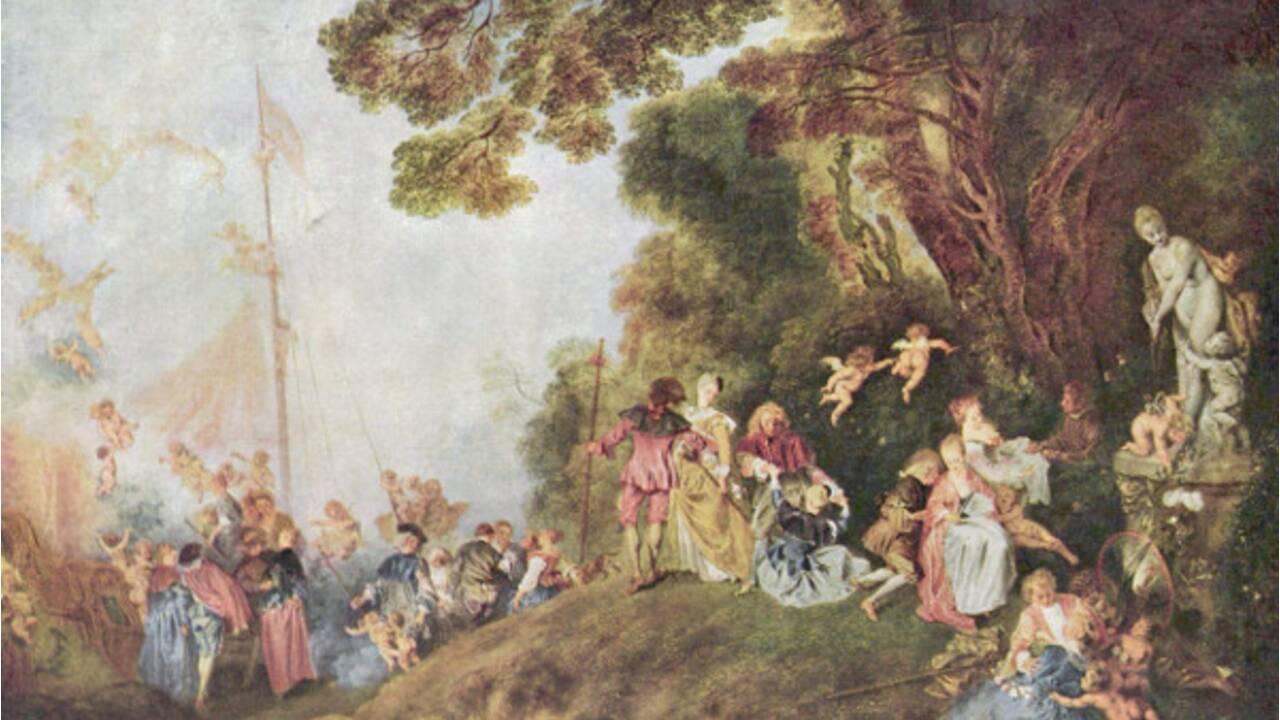Antoine Watteau, bel exemple du mouvement rocaille