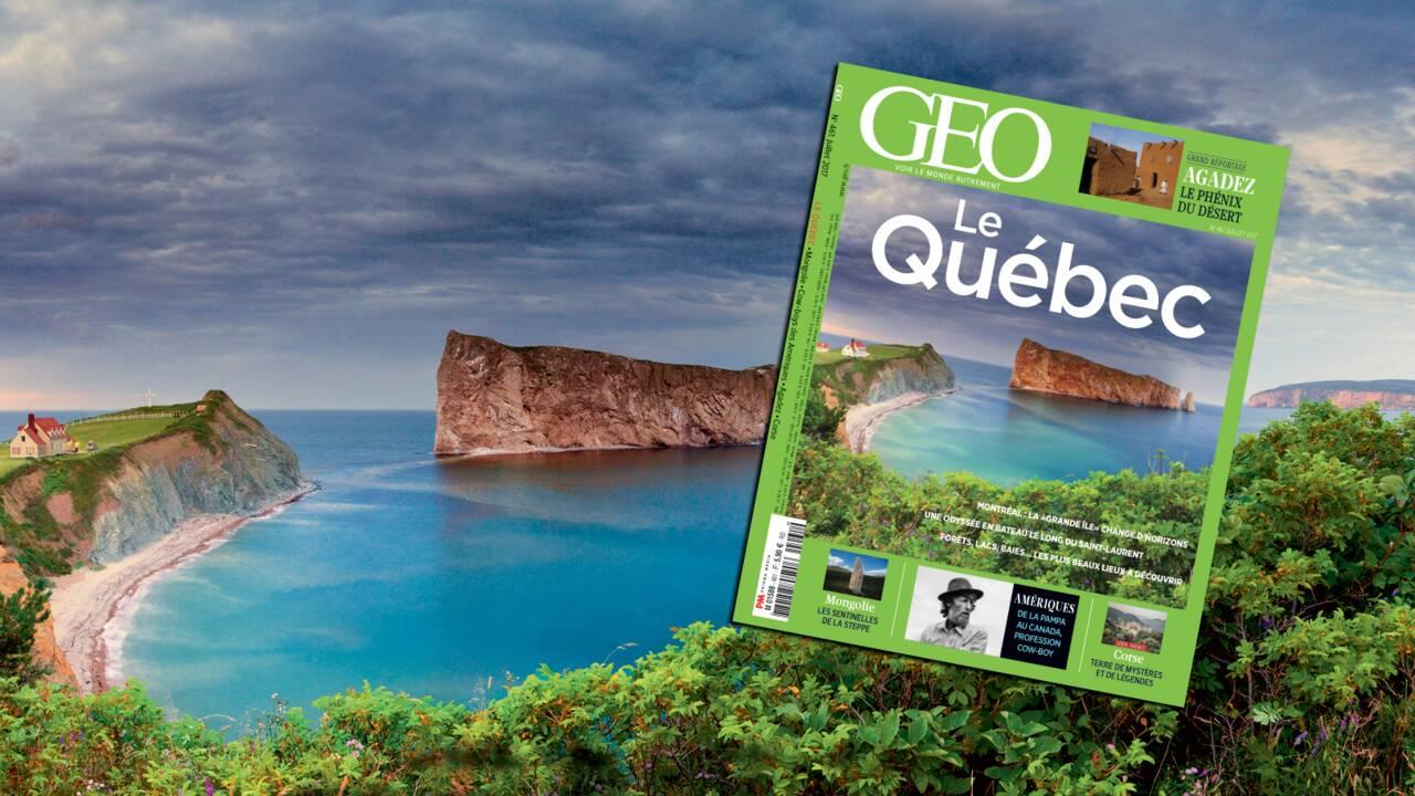 Le Québec dans le nouveau magazine GEO