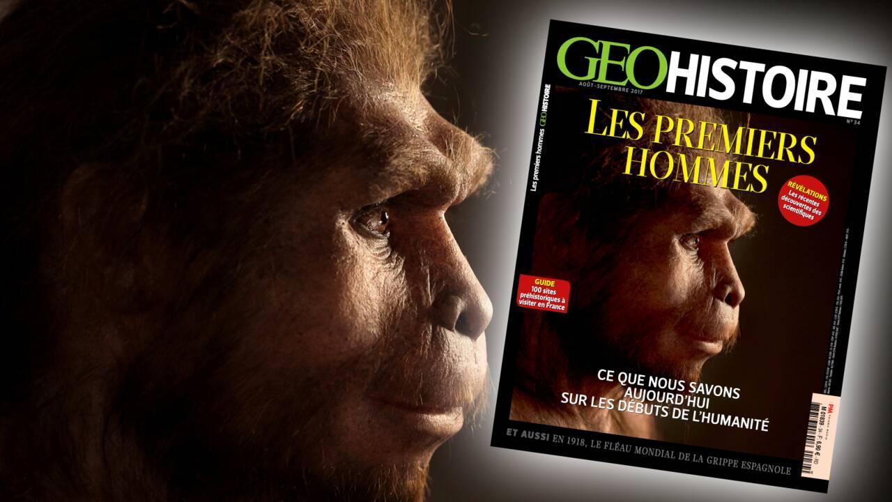 Les premiers hommes dans le nouveau numéro de GEO Histoire