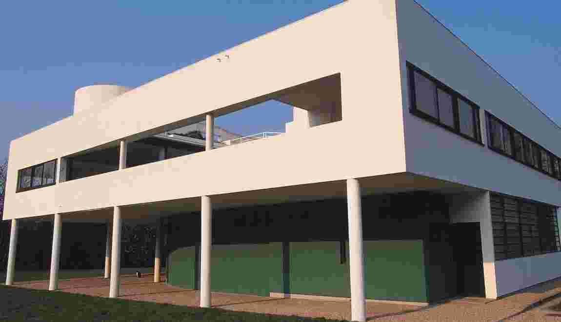 La villa Savoye à Poissy pièce maîtresse de l'oeuvre du Corbusier