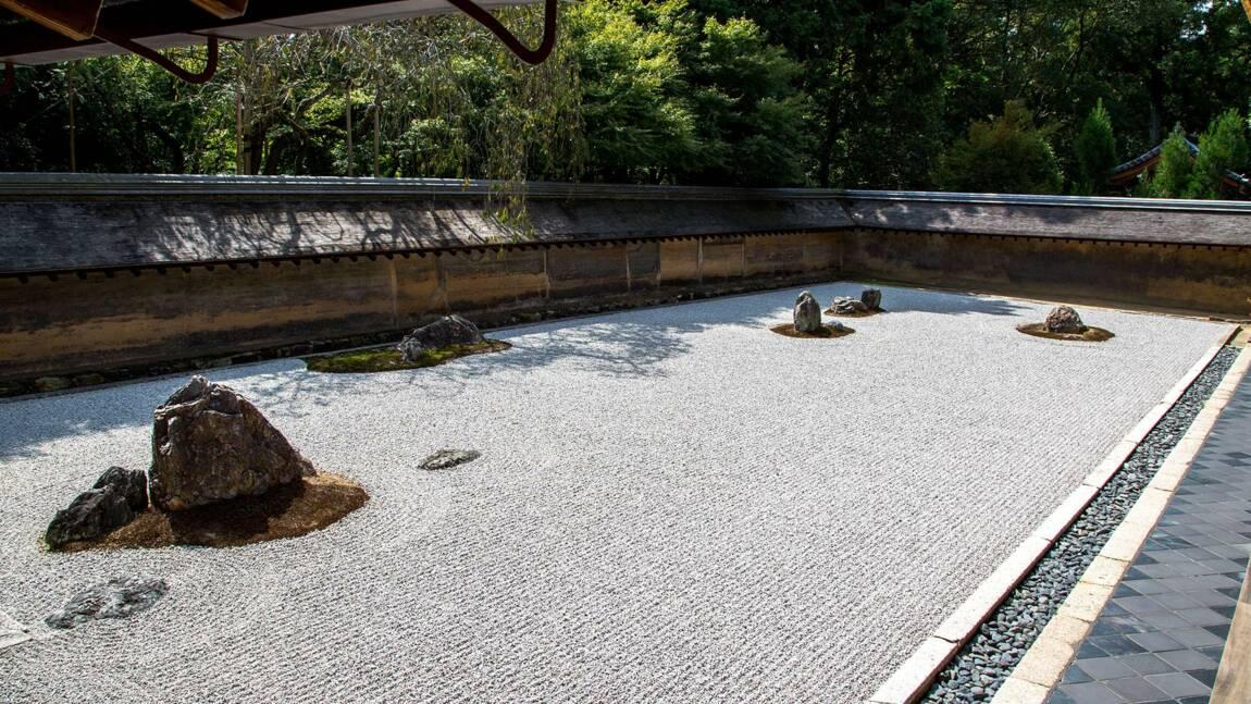 "Japon : 6 secrets du jardin ""idéal"" du monastère Ryōan-ji de Kyoto"