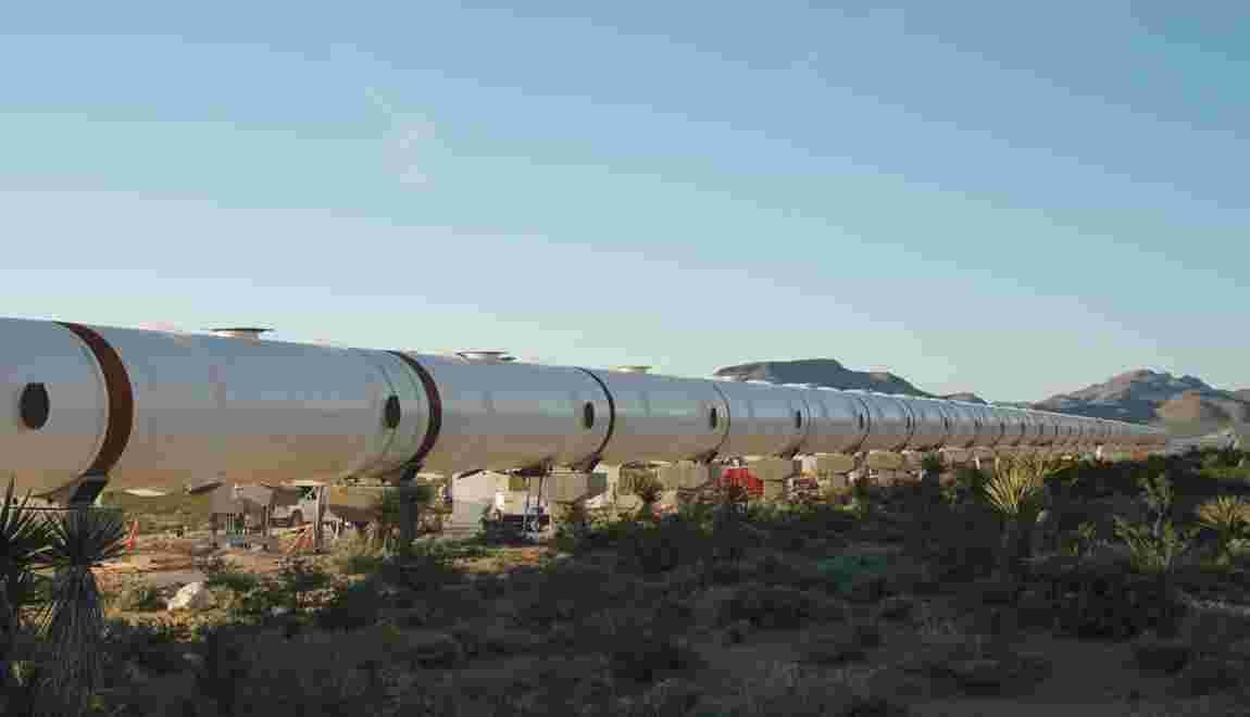 Premier test complet réussi pour le système futuriste Hyperloop aux Etats-Unis