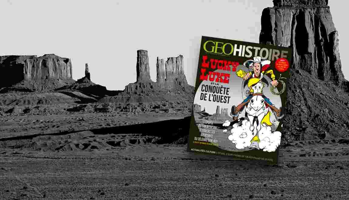 Lucky Luke et la conquête de l'Ouest dans le nouveau GEO Histoire