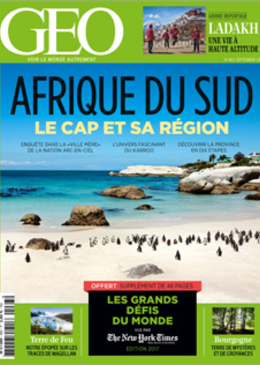 Afrique du Sud : Le Cap et sa région dans le nouveau numéro de GEO
