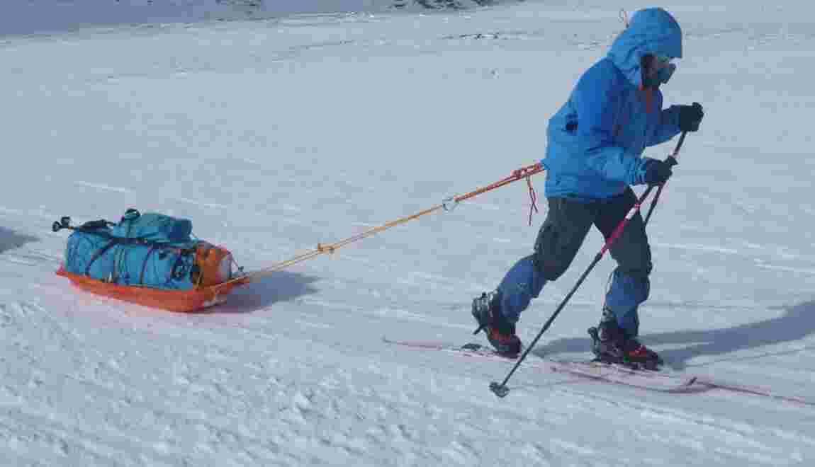 Une Polonaise a rallié le pôle Sud à pied