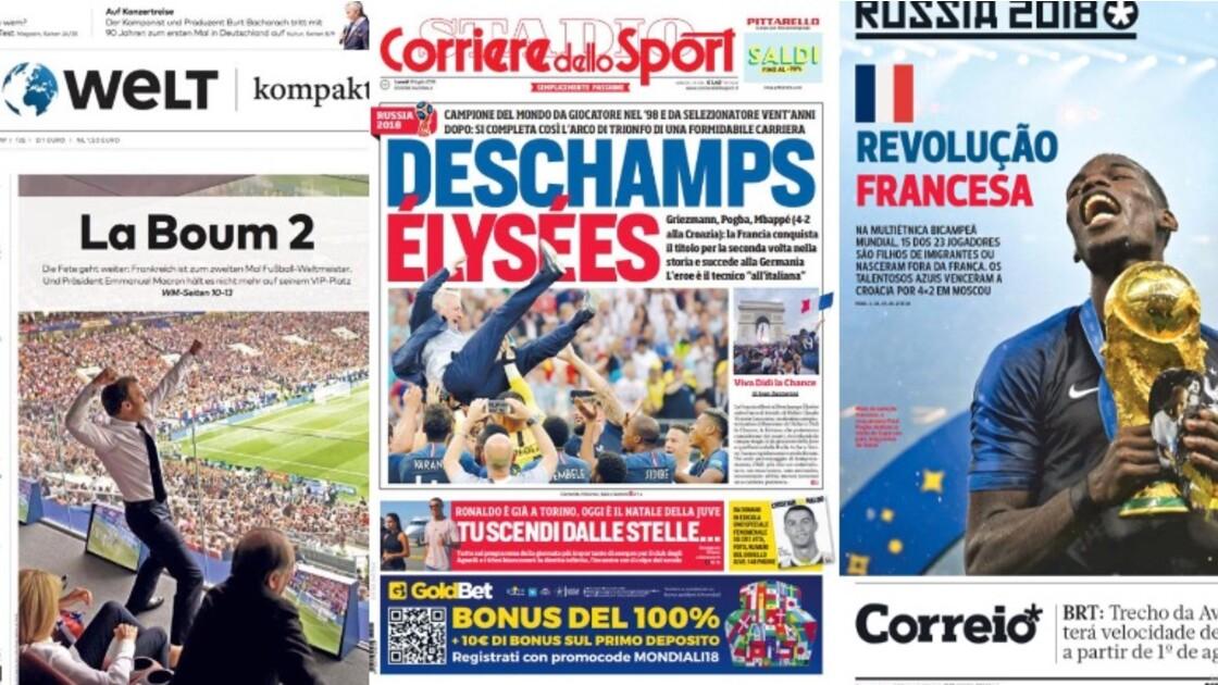 PHOTOS - La revue de presse mondiale de la victoire des Bleus